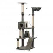 vidaXL Penjalica za Mačke 191 cm Sivi Pliš