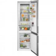 Combina frigorifica Electrolux LNT7ME34X2, No Frost, 360 L, H 201 cm, Display LCD, Racire rapida, Inghetare rapida, Clasa energetica A++, Inox antiamprenta