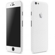 Apple iPhone 6 Plus / 6s Plus FoliaTa Skin Kit Carbon Fata / Spate, White