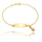 Bratara pentru Copii Borealy Aur Galben 9 K Girl Charm