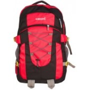 HANDCUFFS Outdoor Travel Backpack For Hiking Camping Children Cute Hiking Daypack Colorful School Bags Patchwork Back Packs Rucksack (Red) 6 L Backpack(Red, Black)