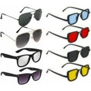 SO SHADES OF STYLE Wayfarer, Aviator, Rectangular Sunglasses(Multicolor)