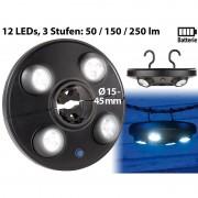 Luminea LED-Schirmleuchte LSL-250 mit 4 dreh- und dimmbaren Spots, 250 Lumen