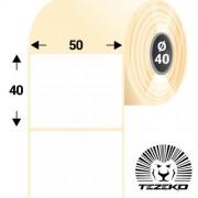 50 * 40 mm-es, 1 pályás papír etikett címke (1700 címke/tekercs)