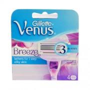 Gillette Venus Breeze 1Ks 4Pcs Replacement Blades Per Donna (Cosmetic)