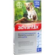 BDV Advantix spot on 4,0ml 25kg felett kutya a.u.v - 4x