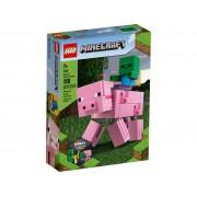 Lego Конструктор Lego Minecraft Большие фигурки Minecraft Свинья и Зомби-ребёнок 21157