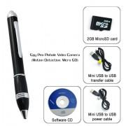Spy Pen - Stylot caméra espion (Détection de mouvement, Micro SD)