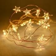 decoLED LED șirag - stele, 12x1.5 m, alb cald, 180 diode