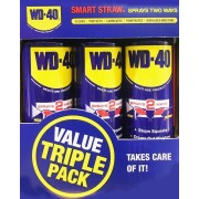 WD40 Smart Value Pack 3 x 450ml New Large Cans with Smart Straw