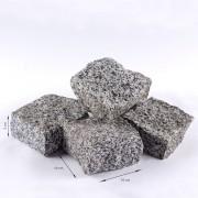 Piatra Cubica Granit Gri Sare si Piper Natur 10 x 10 x 5 cm( 1 tona = 8 - 10 mp)