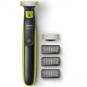Тример за подстригване, оформяне и бръснене Philips QP2520/30 OneBlade, 3 гребена, За сухо и мокро бръснене