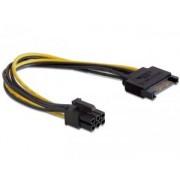 PCIe VGA tapkabel atalakito 6 pin (SATA-rol) Delock 82924