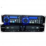 CD Player Dublu Omnitronic XDP-2800 CD Player SD USB MP3 (11046030)