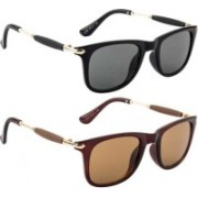 John Dior Rectangular, Rectangular Sunglasses(Black, Brown)