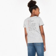 La Redoute Collections T-shirt estampada, 10-16 anoscinza mesclado- 15/16 ANOS (162 cm)