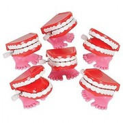 (12) Mini 1.75 Wind-up Chatter Teeth Toys