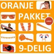 Oranje Feestpakket Large   9 Feestartikelen voor EK Voetbal 2020