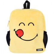 SmileyWorld Hungry Expression Soft Toy School Bag 14 Inch Yellow by Ultra