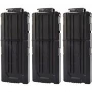 3pcs Clips De Bala Suaves 12 Balas Para Nerf N-strike Pistola Juguete - Negro