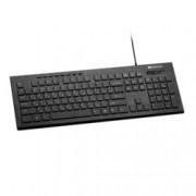 Клавиатура Canyon CNS-HKB2-BG, нископрофилни клавиши, мултимедийни бутони, LED странична подсветка, черна, USB