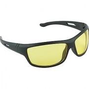 Night drive antiglare yellow glasses for bike and car drivers