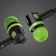 Rugged head in-ear Headphone/ear phone with MIC Universal Supported EZ186-GREEN