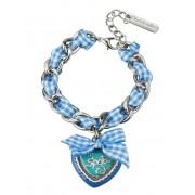 Gipfelzauber Armband mit Band, Damen, blau, 889013512220
