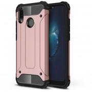 Para Huawei P20 Lite Full Body Resistente TPU + PC Combinación Volver Funda (oro Rosa)