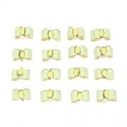 Traumdeutung Arco de perro a rayas con flores para el pelo de flores, accesorios de aseo para perros, color verde, 20 unidades