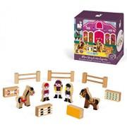Set de joaca din lemn Mini povesti - Scoala de echitatie
