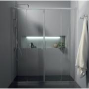 Porta box doccia doppio scorrevole da 140 a 180 cm (FPSC57)