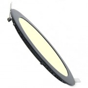 BES LED LED Downlight Slim - Inbouw Rond 3W - Warm Wit 3000K - Mat Zwart Aluminium - Ø90mm