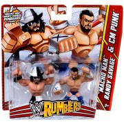 "WWE Wrestling Rumblers Mini Figure 2-Pack ""Macho Man"" Randy Savage & CM Punk"