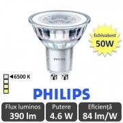 Bec LED Philips - CorePro LEDspot MV 5W GU10 865 36D alb-rece