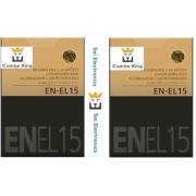 2x EN-EL15 Battery For Nikon D7000 D800 D800E D7000 D600 MB-D11/D12