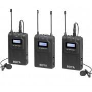 Sistem wireless UHF Boya BY-WM8 PRO-K2 cu Microfon lavaliera 2xTransmitator si Receiver