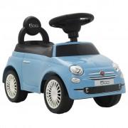 """vidaXL Детска кола за яздене """"Fiat 500"""" синя"""