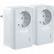 AV500 Powerline Adapter with AC Pass Through Starter Kit, 500Mbps Powerline Datarate, 1 Fast Ethernet port, HomePlug AV, Green Powerline, Plug and Play, Twin Pack