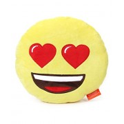 "Emoji Plush Pillow - Best Gift for Friends, Family, Home, Car & Loved ones | Emoticons as Stuffed Soft Toys | Premium Quality - Import | Certified Safe (EN71) & Official ""emoji"" - The Iconic Brand by My Baby Excels (Emoji In Love Face)"
