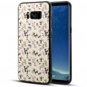 Para Samsung Galaxy S8 + / G955 TPU + PC Azul Flor Patrón Impreso Superficie Nuevo Estuche Protector