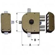 Cr serrature serratura da applicare art.3350-c con scrocco sx 60 mm