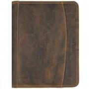 Greenburry Vintage portadocumento - carpeta con anillas piel 26 cm marrón
