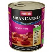 6х800г GranCarno Original Adult Animonda, консервирана храна за кучета - говеждо и пуешко месо