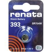 Baterie buton oxid de argint 393, 1,55 V, 80 mAh, Renata