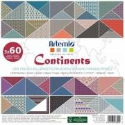 Artemio Papier ozdobny 30,5x30,5 cm - Continents