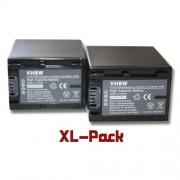 vhbw 2x Li-Ion batterie Set 2200mAh (7.2V) pour caméra Sony HDR-CX450, HDR-CX625, HDR-PJ620 Remplace NP-FV30, NP-FV40, NP-FV50, NP-FV60, NP-FV70.