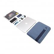 STM Ridge Laptop Sleeve - дизайнерски качествен калъф за MacBook Pro Retina 13 и преносими компютри до 13 инча (син)