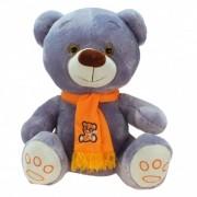 Geen Witte teddyberen knuffel Wolly met sjaal100 cm