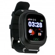 Ceas inteligent pentru copii GW100 Negru cu telefon localizare GPSWiFi si functie monitorizare spion